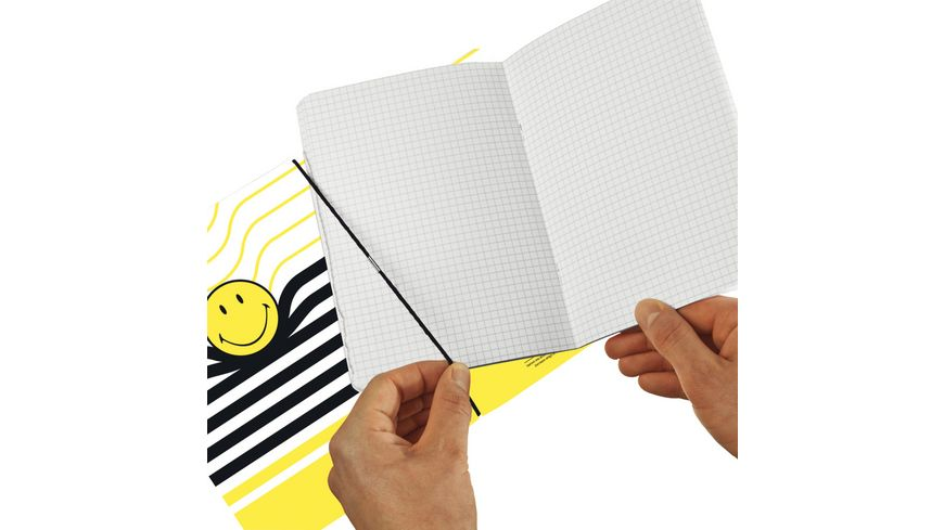 my book flex Notizheft A5 Smiley Black Yellow kariert