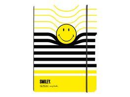 my book flex Notizheft A5 Smiley Black Yellow kariert