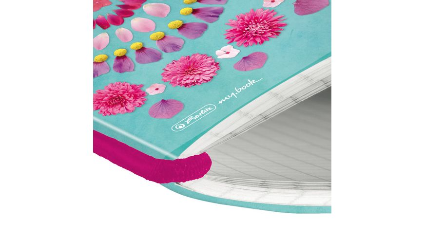 my book flex Notizheft A5 Flowers kariert