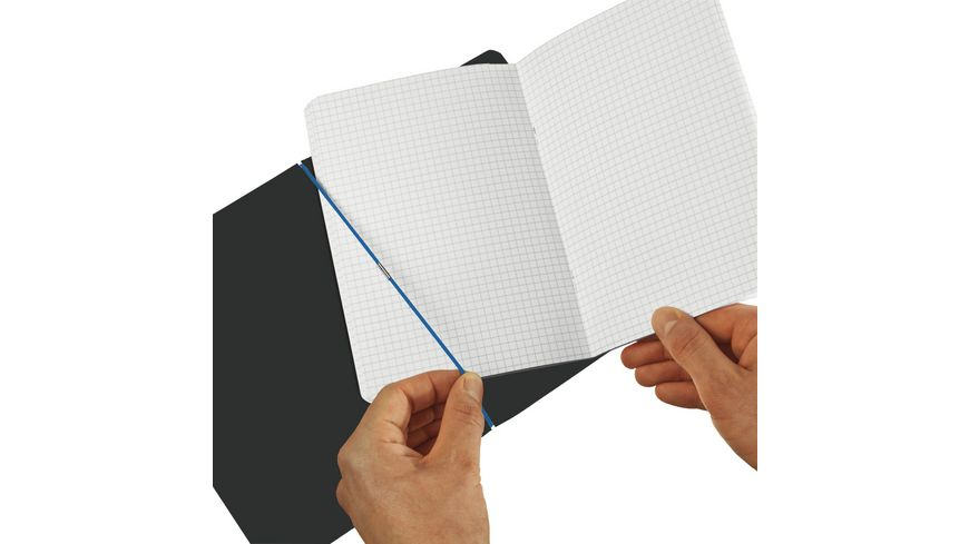 my book flex Notizheft Leinen A5 hellblau