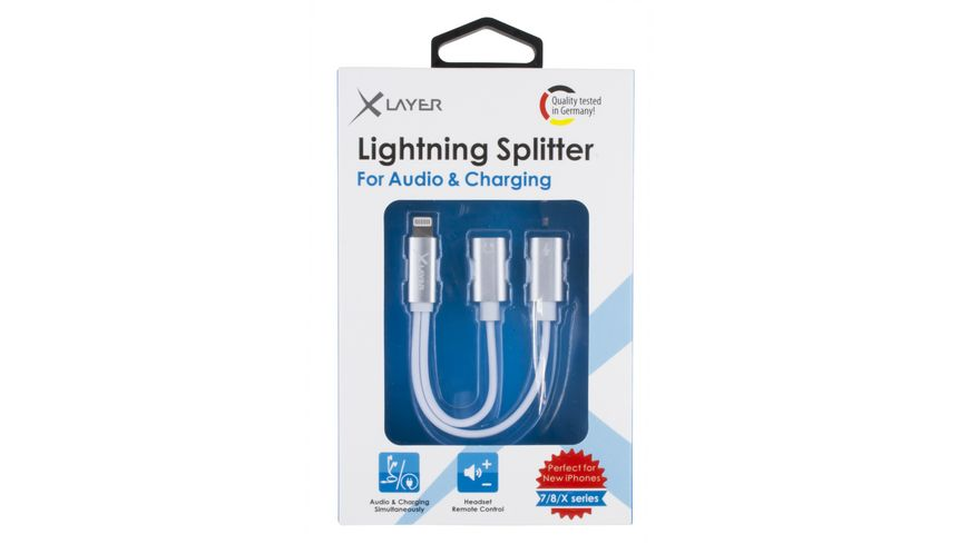 Xlayer Kabel Dual Lightning Adapter 1x Lightning auf 2x Lightning White