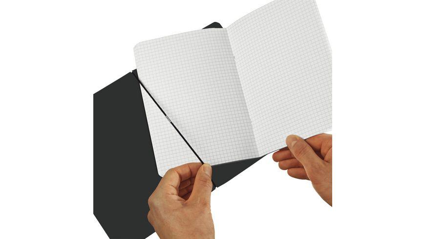 my book flex Notizheft A4 Lederoptik taupe kariert