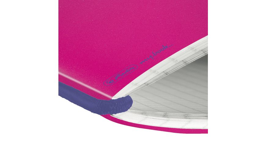my book flex Notizheft PP A5 pink kariert
