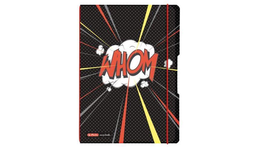 my book flex Notizheft PP A4 Comic kariert liniert