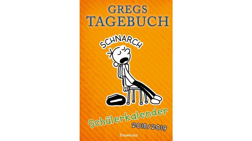 Gregs Tagebuch Schuelerkalender 2018 19
