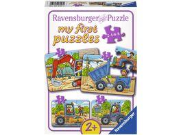 Ravensburger Puzzle Meine liebsten Baustellenfahrzeuge 8 Teile