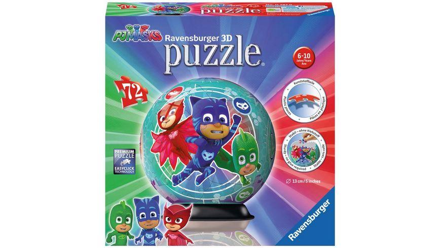 Ravensburger Puzzle 3D Puzzle Ball PJ Masks