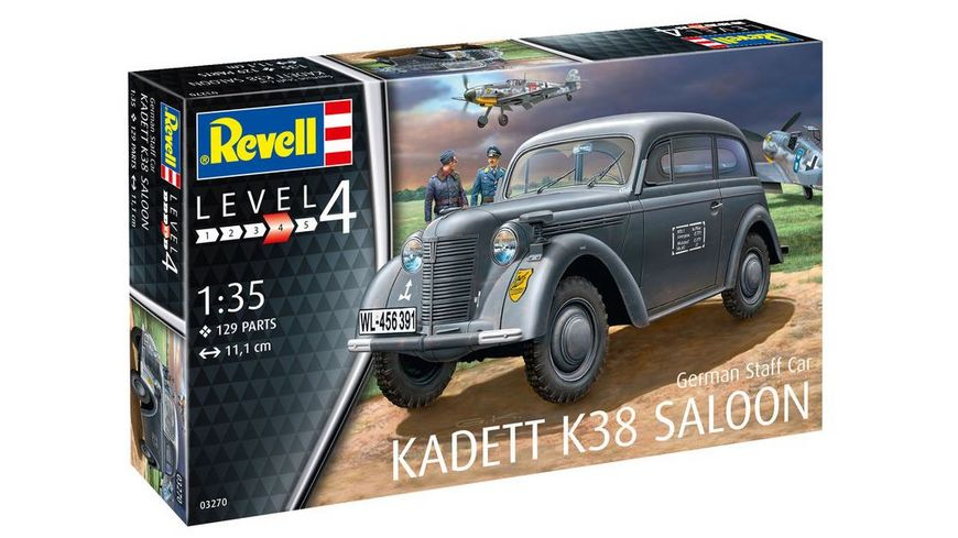 Revell 3270 German Staff Car KADETT K38 SALOON