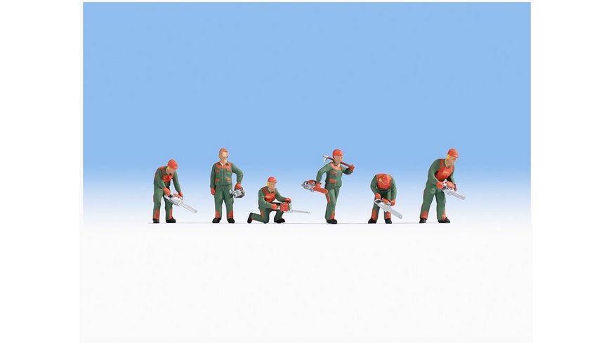 NOCH 15061 H0 FIGUREN - H0 - Waldarbeit, 6 Figuren mit Motorsägen