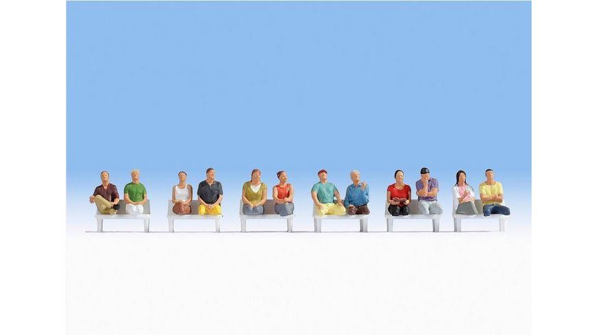 NOCH 15250 H0 FIGUREN - H0 - Sitzende Passagiere 12 Figuren (ohne Beine, ohne Bänke)