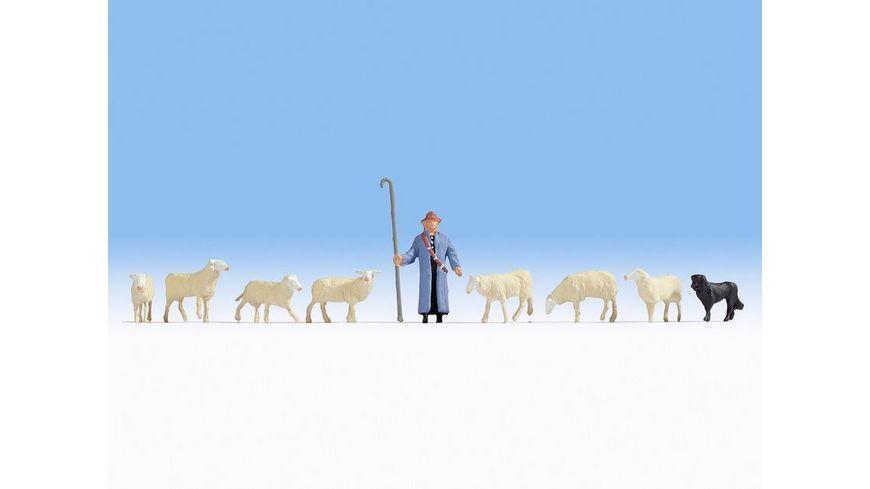 NOCH 15748 H0 Schafe und Schaefer 1 Schaefer 1 Hund 7 Schafe