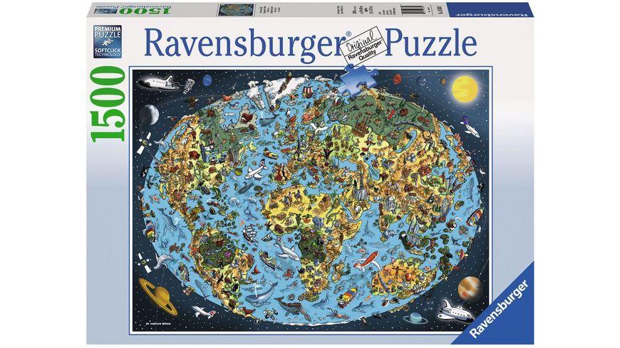 Ravensburger Puzzle Kunterbunte Erde 1500 Teile