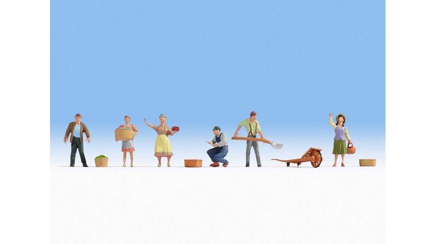 NOCH 15617 H0 FIGUREN H0 Bauern 6 Figuren Zubehoer