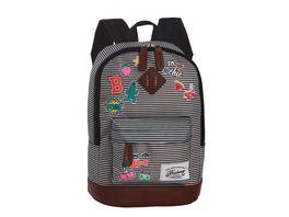 BESTWAY Kinderrucksack schwarz weiss 40216 0120