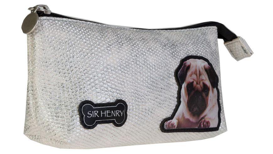 SIR HENRY Kosmetiktasche silber