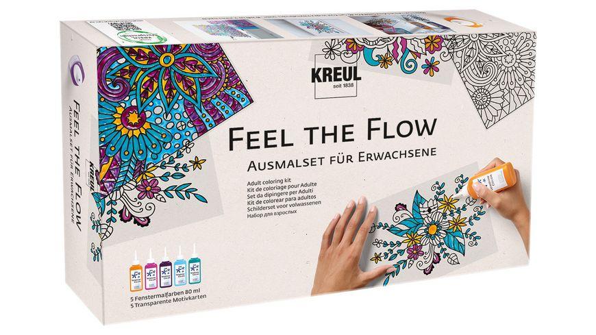 KREUL Fenstermalfarben Feel the flow Ausmal Set fuer Erwachsene