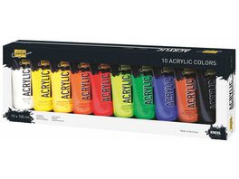 KREUL Solo Goya Acrylfarbe Tuben Set 10x 100 ml