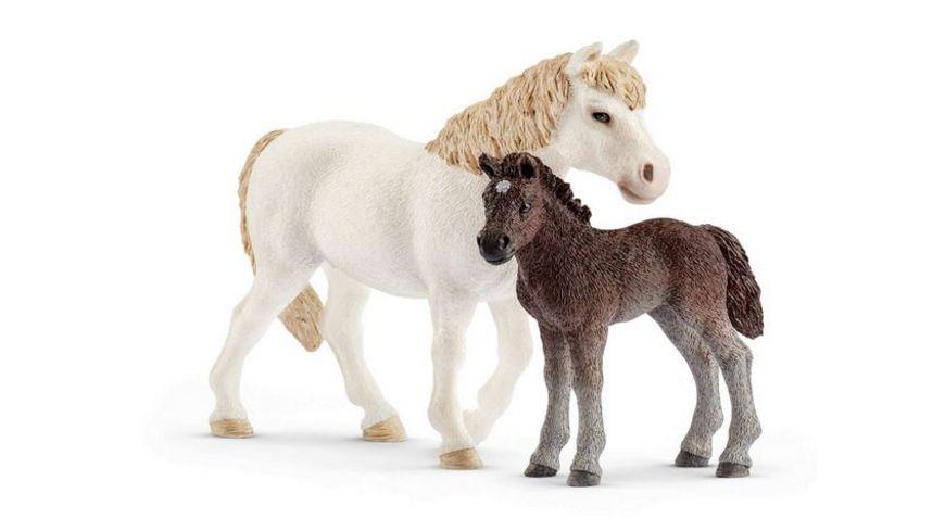 Schleich Farm World Pony Stute und Fohlen
