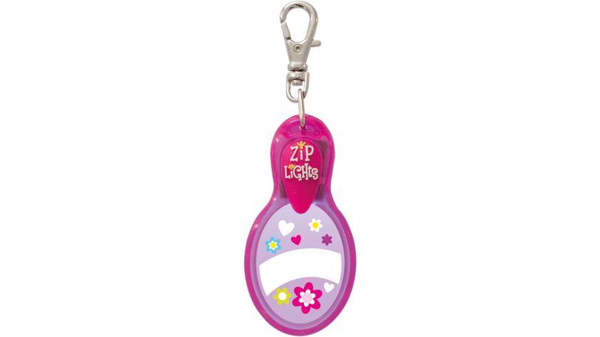 H H Reissverschlusslaempchen Zip Lights pink