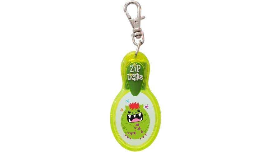 H H Reissverschlusslaempchen Zip Lights Monster