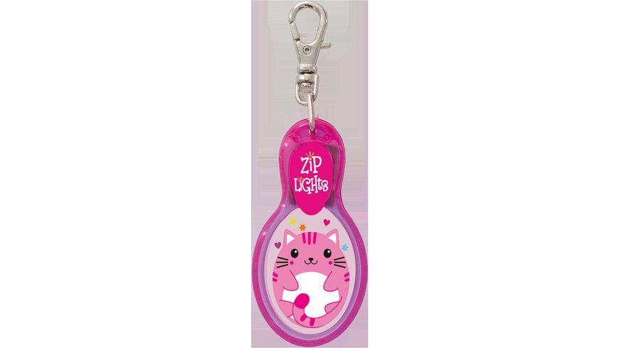 H H Reissverschlusslaempchen Zip Lights Katze