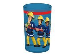 p os Kinder Trinkbecher Set Feuerwehrmann Sam 3 tlg