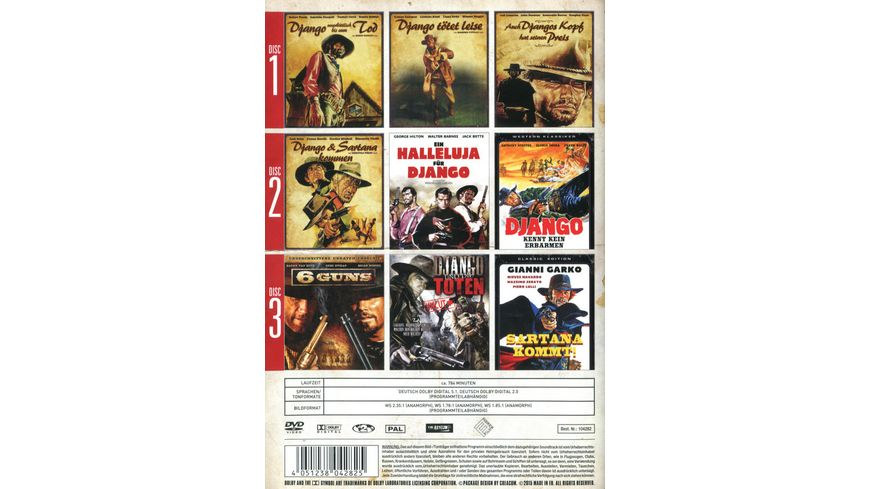 Django Hero without Chains 3 DVDs