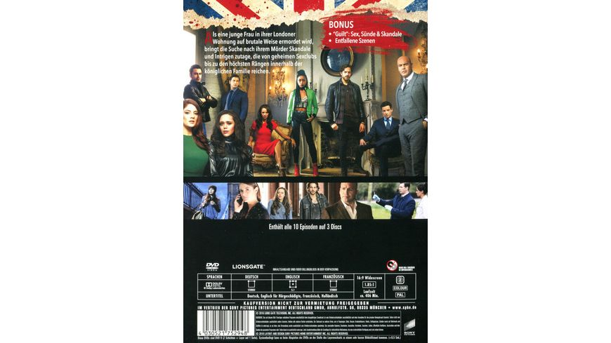 Guilt Die komplette erste Season 3 DVDs