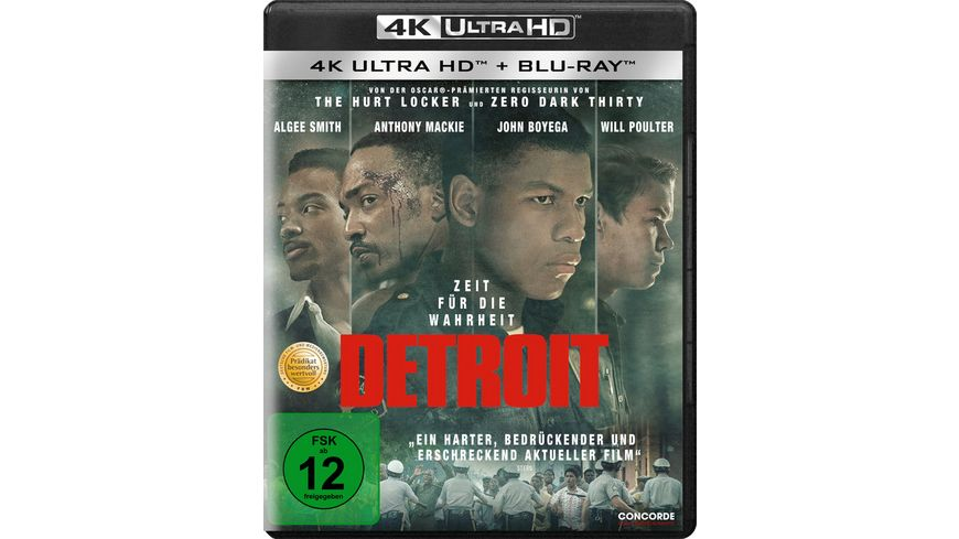 Detroit 4K Ultra HD Blu ray 2D