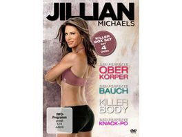 Jillian Michaels Killer Box Set Killer Body Der perfekte Bauch Der perfekte Oberkoerper Der perfekte Knack Po 4 DVDs