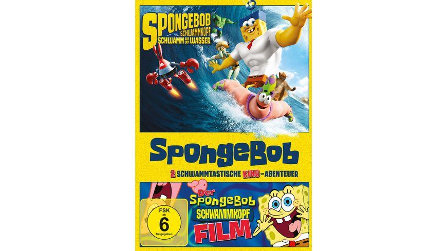 SpongeBob Schwammkopf Der Film Schwamm aus dem Wasser 2 DVDs