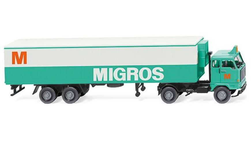 Wiking 0543 01 Kuehlkoffersattelzug Volvo F89 Migros 1 87