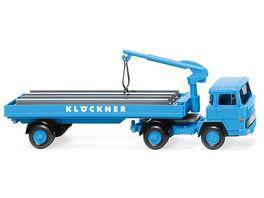 WIKING 050205 Baustoffwagen Magirus 135 D 11 FS Kloeckner 1 87