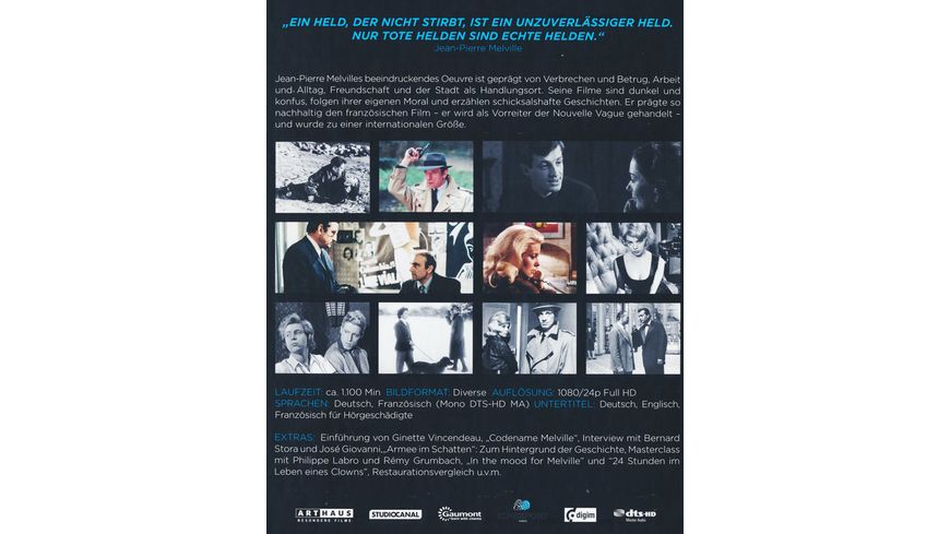 Jean Pierre Melville 100th Anniversary Edition 9 BRs