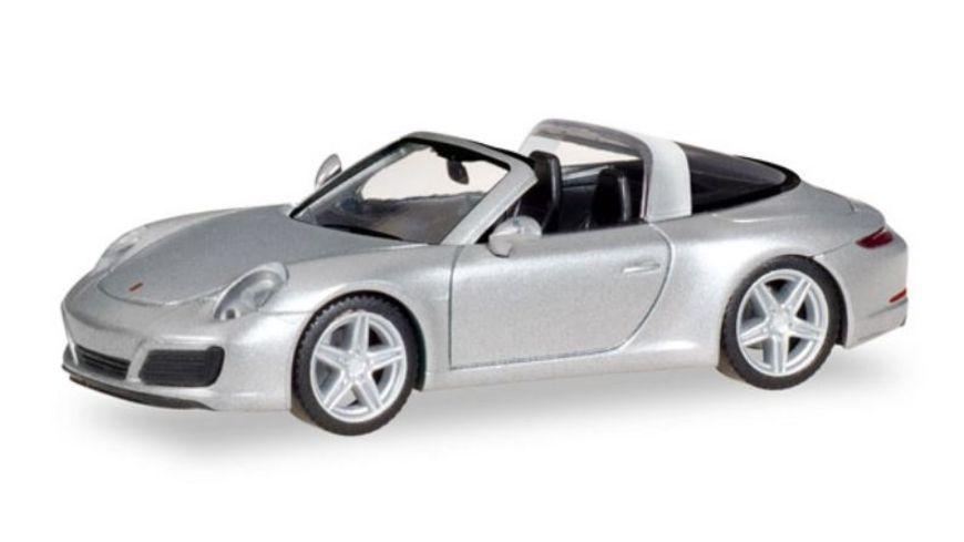 Herpa 38904 - Porsche 911 Targa 4S, rhodiumsilbermetallic