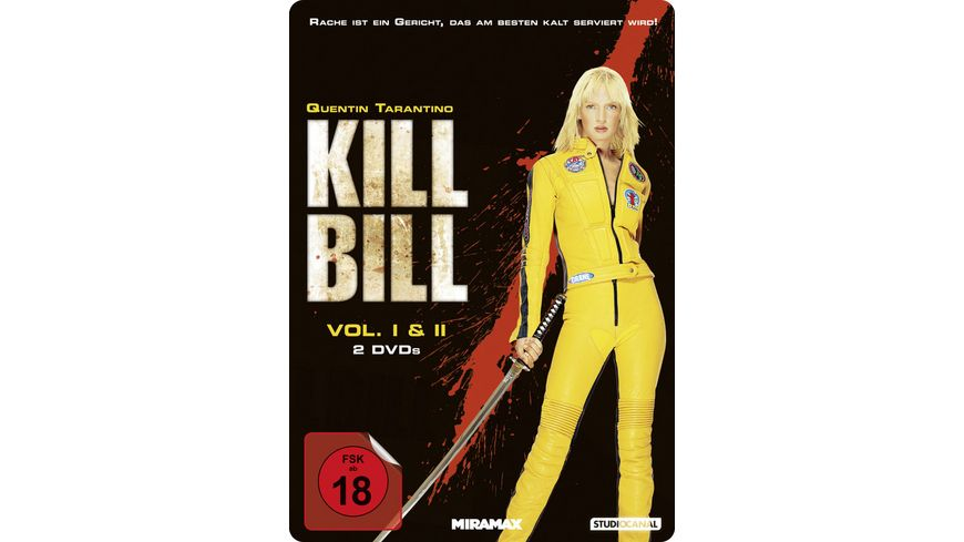 Kill Bill Volume 1 2 Steel Edition 2 DVDs