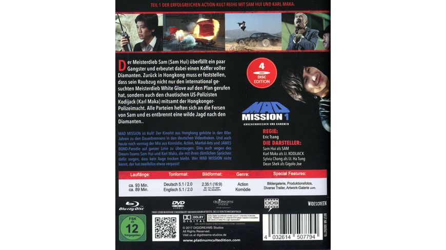Mad Mission 1 Uncut 4 Disc Complete Edition 2 Blu rays 2 DVDs