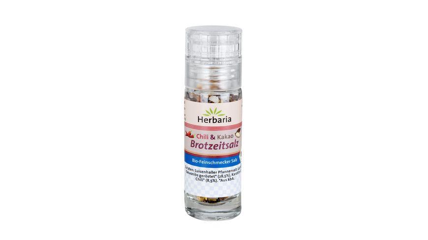 Herbaria Bio Chili Kakao Brotzeitsalz Mini Muehle