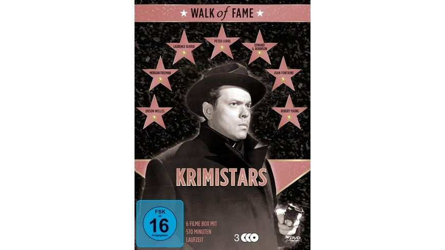 Walk of Fame Krimistars 3 DVDs