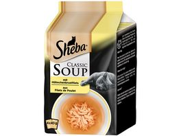Sheba Classic Soup mit Huehnchenbrustfilets