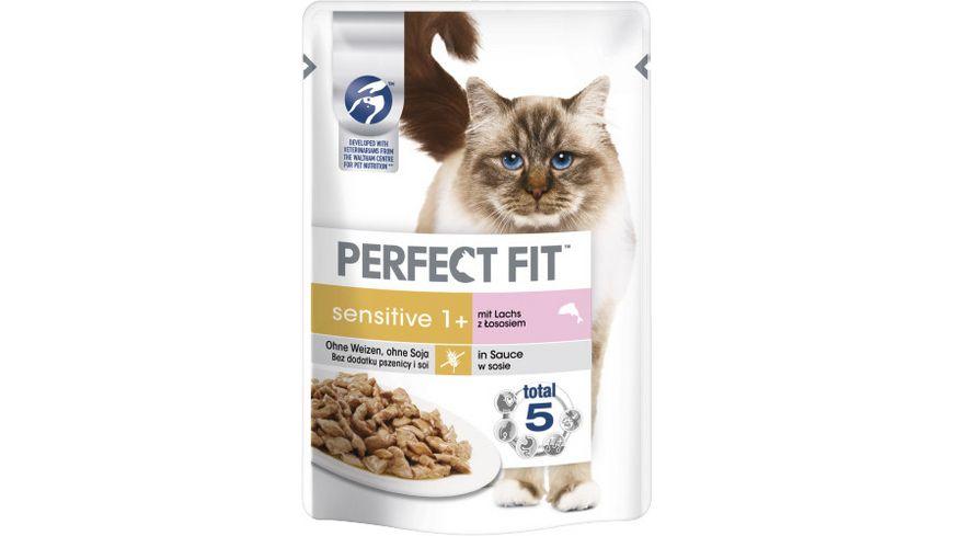 PERFECT FIT™ Katze Portionsbeutel Sensitive mit Lachs 85g