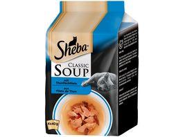 SHEBA Portionsbeutel Classic Soup mit Thunfischfilets 4 x 40g Multipack