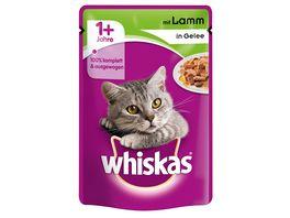 Whiskas Katzennassfutter 1 mit Lamm in Gelee Portionsbeutel