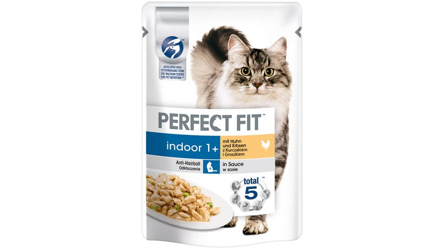 PERFECT FIT KATZE Katzennassfutter Portionsbeutel INDOOR Huhn