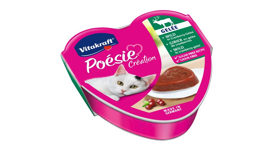 Vitakraft Katzennassfutter Poesie Wild in Cranberry Gelee