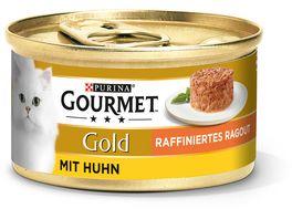 Purina GOURMET Katzennassfutter Gold Raffiniertes Ragout mit Huhn
