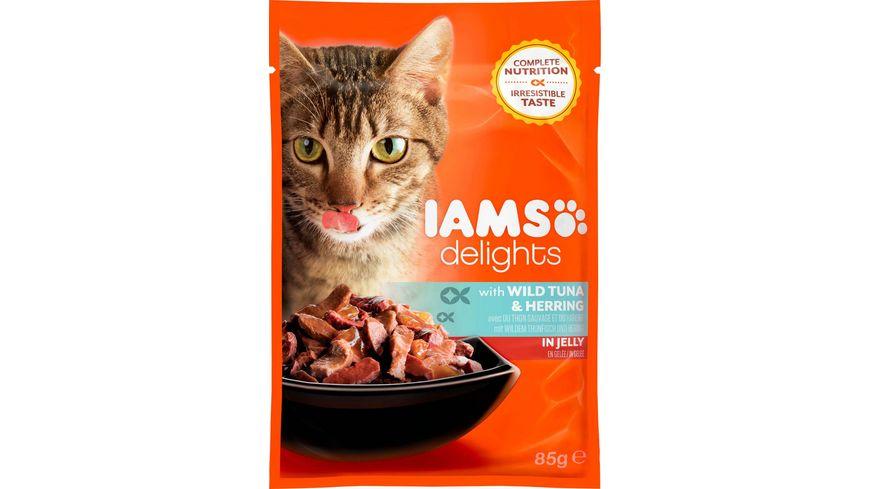 IAMS Delights Katzennassfutter mit Thunfisch Hering