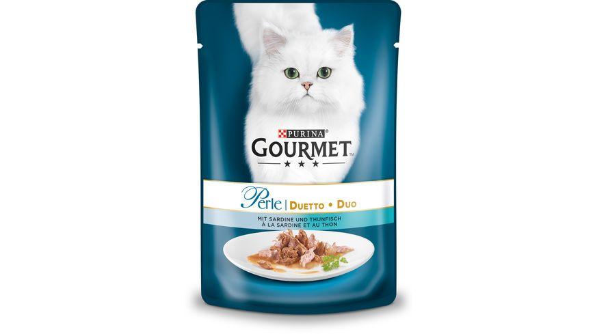 Purina GOURMET Katzennassfutter Perle Duetto mit Sardine Thunfisch