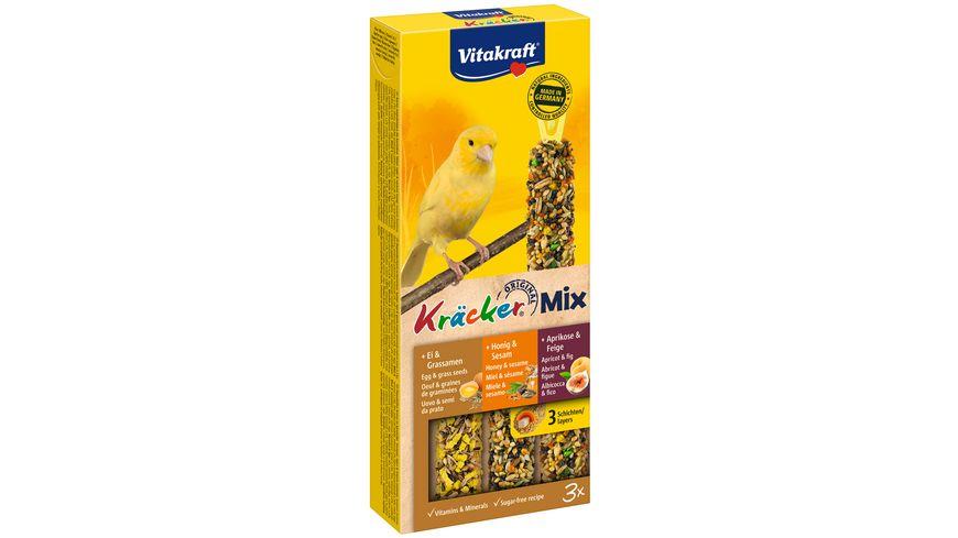 Vitakraft Kraecker Trio Mix Ei Frucht Honig Kanarien
