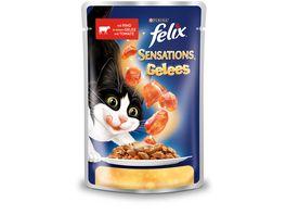 felix Katzennassfutter Sensations Gelees mit Rind Tomate